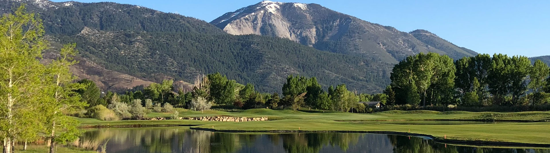 view of a pond on the course at Toiyabe Golf Club